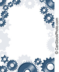 Gear border - Border pattern made of metallic interlocked...