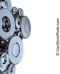 Gear - High resolution 3d render of an gear made of metal...