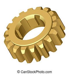 Gear.Vector illustration.Isolated on white