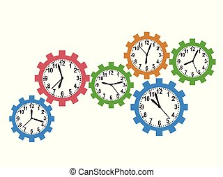 gear clock background