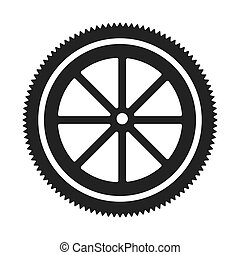 Gear cog wheel icon vector illustration