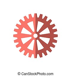 gear cog wheel red icon