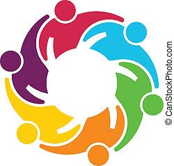 gear., collaboration, vecteur, groupe