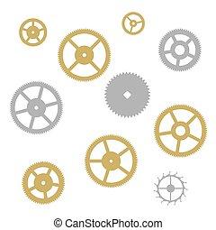 Gear collection clock machine wheels