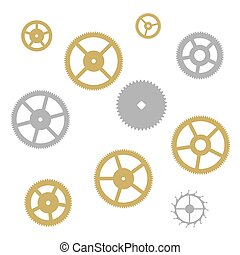 Gear collection clock machine wheels