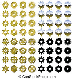 Gear collection - Collection of gears in four different...