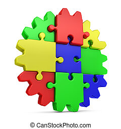 gear  colored puzzles