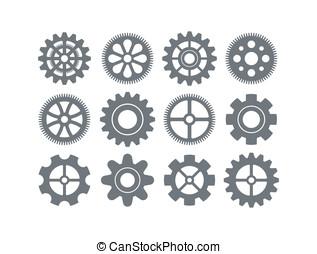 gear icon vector set