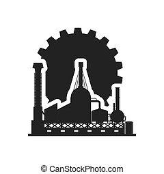 gear factory silhouette design