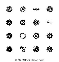 Gear - Flat Vector Icons