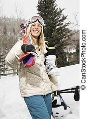 gear., frau, ski
