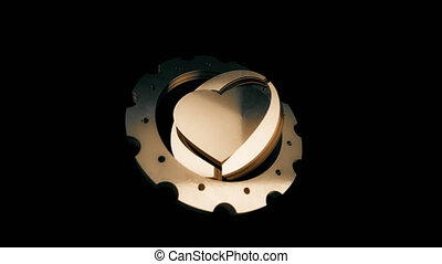 Gear from the heart. Brutal love animation in PNG format...