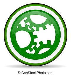 gear green icon settings sign