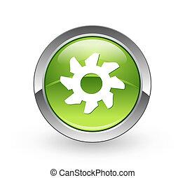 Gear - Green sphere button