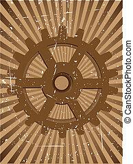 Gear Grunge Steampunnk Vector Background