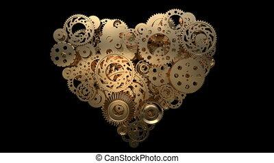 gear heart 01 - heart made of gear wheels