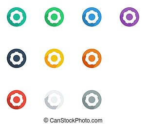 Gear icon flat style vector illustration