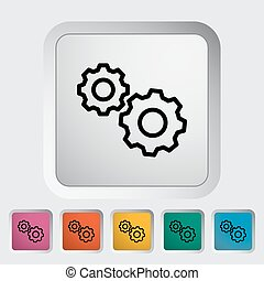 Gear icon.