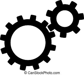 Gear icon in black color