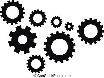 Gear icon isolated on white background