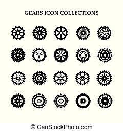 Gear icon set