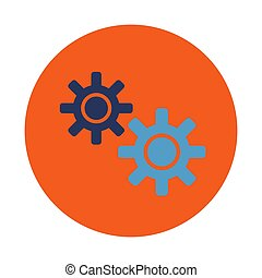 Gear icon symbol in trendy flat style isolated.. Stock Vector illustration.