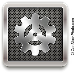 Gear icon. Vector eps10