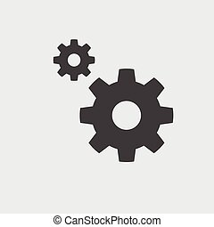 Gear icon, vector icon eps10.