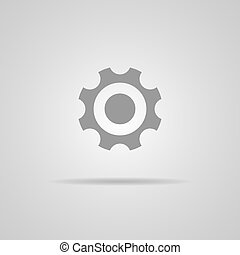 gear icon, vector illustration. Flat design style
