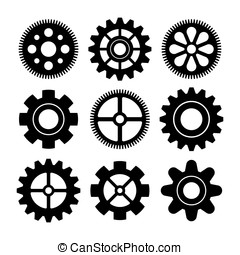 gear icon vector set