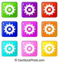 Gear icons 9 set