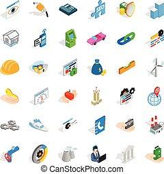 Gear icons set, isometric style - Gear icons set. Isometric...
