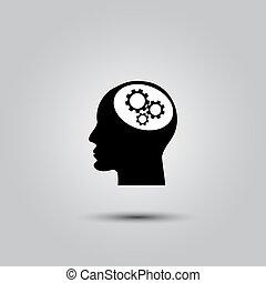 Gear in head icon