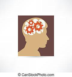 Gear in the head icon