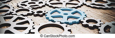 Gear industrial concept. Technology innovations