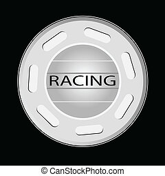 gear knob racing vector illustratio