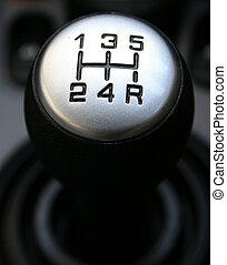 Gear Lever - A manual shift car gear lever
