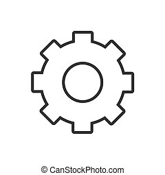Gear line icon on a white background