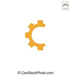 gear logo design abstract business vector isolated