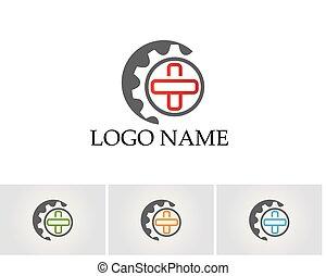 Gear Logo Template vector icon illustration design