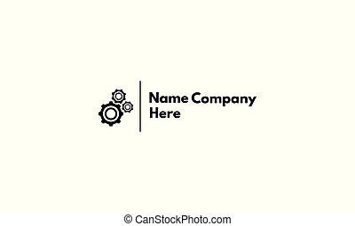 Gear Mechanic abstract black vector logo design