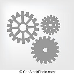 Gear mechanism - gear mechanism on white