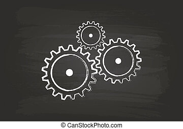 Gear Mechanism On Blackboard