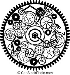 gear mechanism. vector illustration