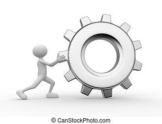 Gear mechanism. Wheel