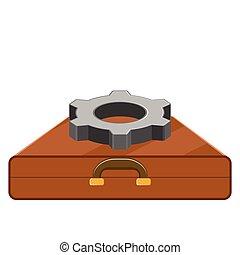 Gear on a briefcase