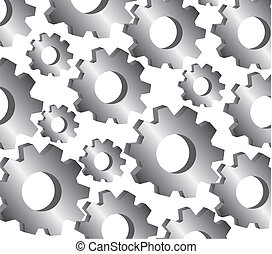 gear pattern, isolated on white background
