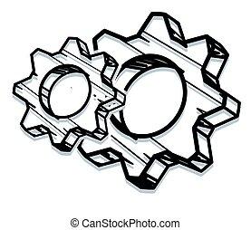 Gear Process Icon