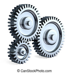 Gear Ratio - High-Resolution 3d Art showing the meeting...