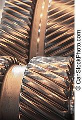 Gear reducer beautiful chrome exposed interior